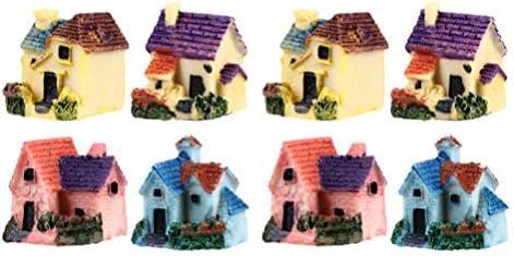 MILISTEN 8 Stks Miniatuur Fairy Tuinhuis Mini Fairy Cottage Huis Voor Tuin Patio Micro Landschap Yard Bonsai Decoratie Willekeurige Stijl
