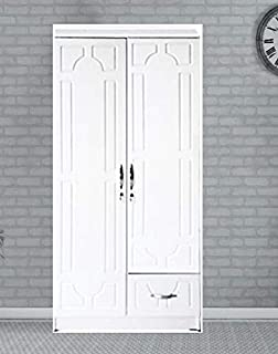 AKF Multi Purpose 2-Door Storage Cabinet with Shelf Compartment, White - H180 x W80 x D45 cm