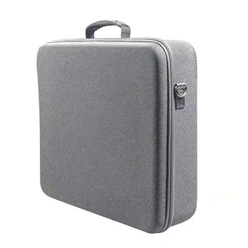 OTTF - Bolsa de almacenamiento para PS5 y accesorios, 39 x 45 x 14 cm, funda de transporte para PS5, funda dura, tela de nailon impermeable y a prueba de golpes, antiarañazos, a prueba de golpes, a prueba de polvo, gris