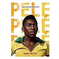 Qqwer ペレ:ブラジルサッカーの伝説(2021)ペレドキュメンタリー映画ポスターキャンバス絵画壁アート写真家の装飾-50X70Cmx1Pcs-フレームなし