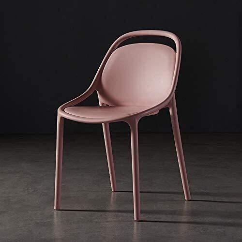 QZMX Silla Lazy Respaldo Silla Restaurante, Nordic Moda Silla Moderna, Simple Grueso Plastic Chair, Silla de Escritorio Inicio Negociación Silla de Oficina (Color : Pink)