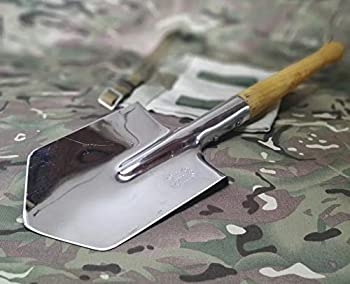 WWII Army Shovel Stainless Steel Sapper Shovel Cold Steel Special Forces Shovel - Spetsnaz Special Forces Trench Shovel - WW2 Russian Shovel USSR by KIBS group