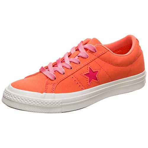 Converse One Star OX Sneaker Damen orange/weiß, 36 EU - 3.5 UK - 5.5 US