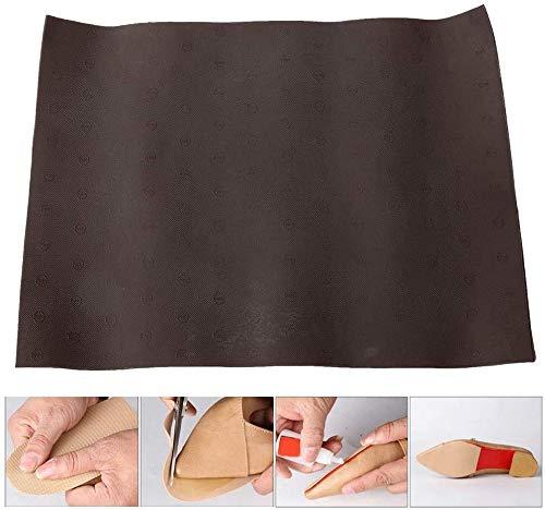 HEEPDD Material de la Estera de Goma, Almohadilla de Suela de Goma Zapatos Antideslizantes Resistentes al Desgaste Material de reparación de la Parte Inferior para Mujeres Zapatos de Hombre(marrón)