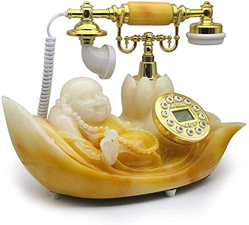 CZWYF Europeo de teléfono Antiguo Retro del teléfono Fijo de la línea Horizonte Creativo de la Manera clásica Maitreya Teléfono