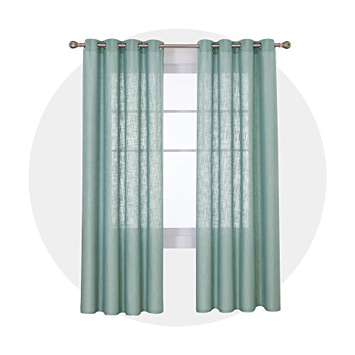 Deconovo Cortinas Salon Modernas Dormitorio con Ojales 140x260cm Verde