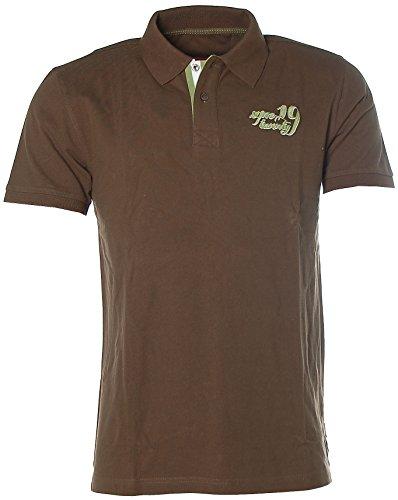 Signum Herren Kurzarm Shirt T-Shirt Poloshirt Polokragen Pikee Dark Earth M