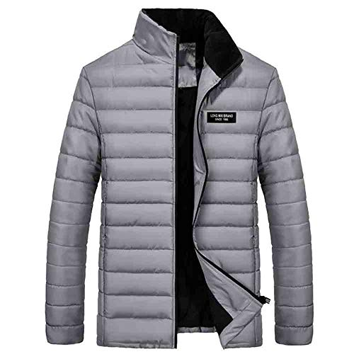Heren winterjas korte winterjas gewatteerde jas mannen donsjas winter Dasongff opstaande kraag donsjas overgangsjas sweatjas Solid Parka