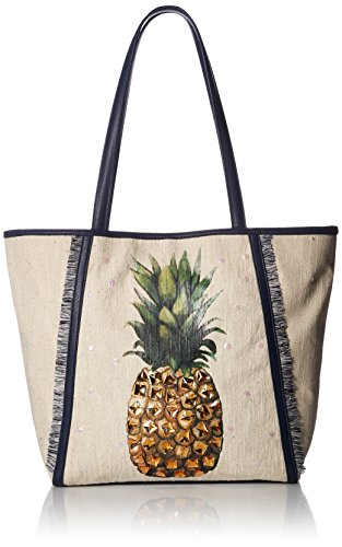 Jessica Simpson Rio Tote, One Size, pineapple + navy