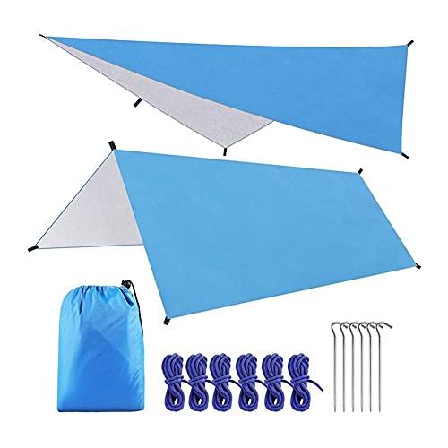 A Prueba de Agua Sun Shelter Ultralight Canvas Anti UV Playa Tienda Hamaca Sombra Lluvia Mosca Camping Toldo Pérgola Toldo (Color : C, tamaño : 3 * 3M)