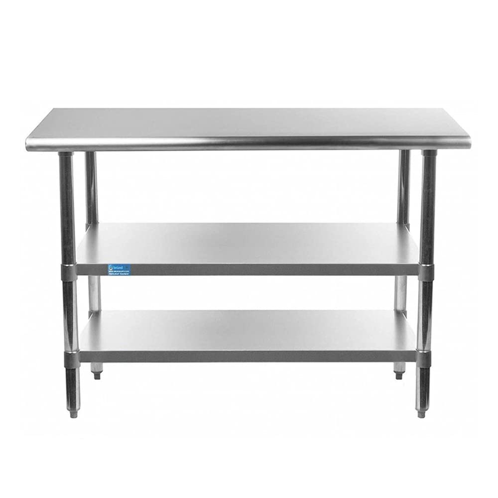 AmGood Stainless Steel free Work Ranking TOP17 Table with Metal Shelves 2 Utility