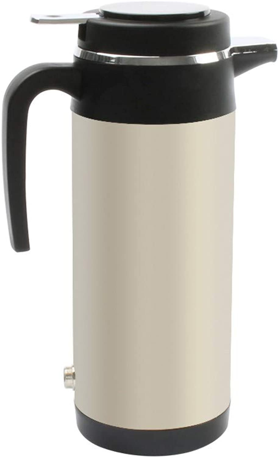 VBNM Thermos 12V 24V Vehicle Hot Water Boiling Electric Kettle voyage Truck Thermal Insulation Heating Cup voiture Teapot Boiler Bottle 1.2L,A