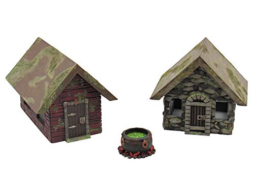 EnderToys Stone Houses, Terrain Scenery for Tabletop 28mm Miniatures Wargame, 3D Printed and Paintable