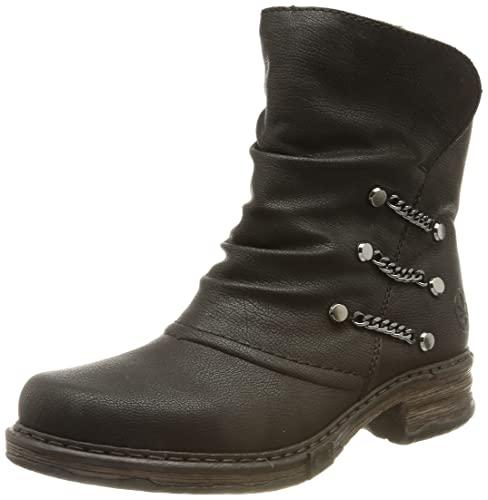 Rieker Damen Z9980 Mode-Stiefel, schwarz, 39 EU