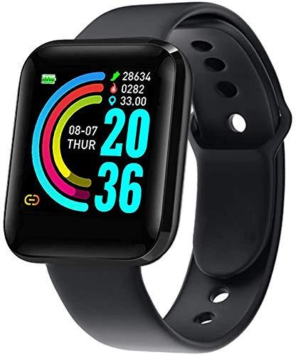 Smartwatch 1.3 Pulgadas Reloj Inteligente Hombre Mujeres Reloj Deportivo con Pulsómetro, Presión Arterial Monitor de Sueño IP67 Smart Watch para xiaomi Huawei Android iOS(Fácil de Cargar)