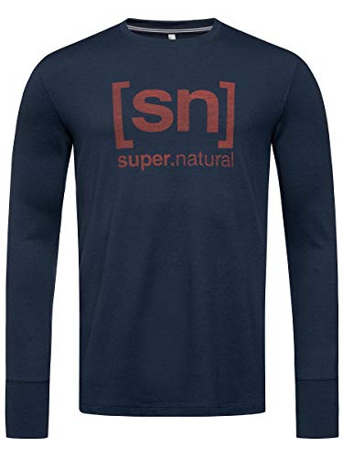 Supernatural Alpine Longsleeve Homme Blue Iris/Red Dhalia Logo FR: L (Taille Fabricant: L)