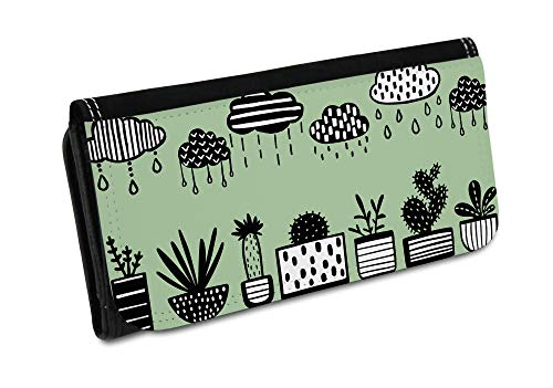 Portemonnaie Kaktus, Florales Muster, Kaktee, Kaktus Stoff, Kaktus Muster BTL027