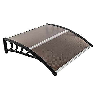 SYLOTS 39x39 Door Window Outdoor Awning Font Door Rain Cover Outdoor Patio Canopy Sun Shelter UV Rain Snow Protection