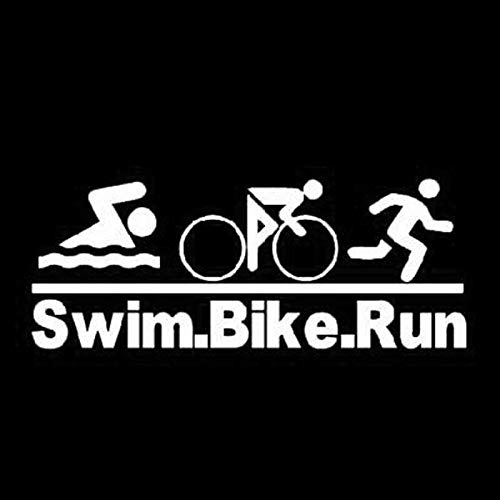 SUIFENG Pegatinas para coche, 20,3 x 8 cm, para natación, bicicleta, correr, coche, triatlón, vinilo para coche