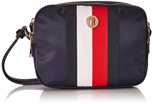 Tommy Hilfiger Damen Handtasche Tasche Schultertasche Poppy Crossover Blau