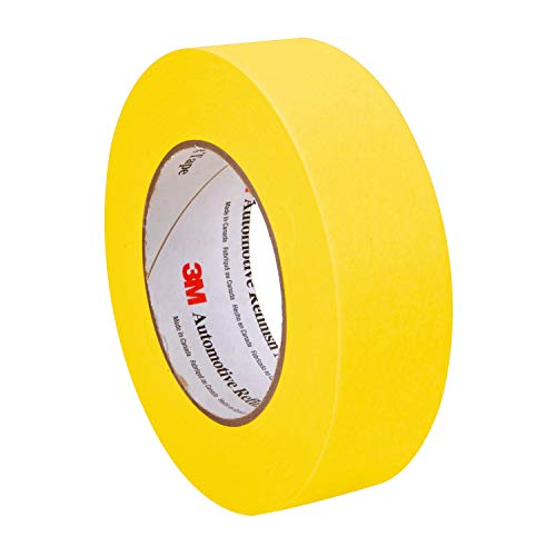 3M Automotive Refinish Masking Tape, 06654, 36 mm x 55 m 24 Pack