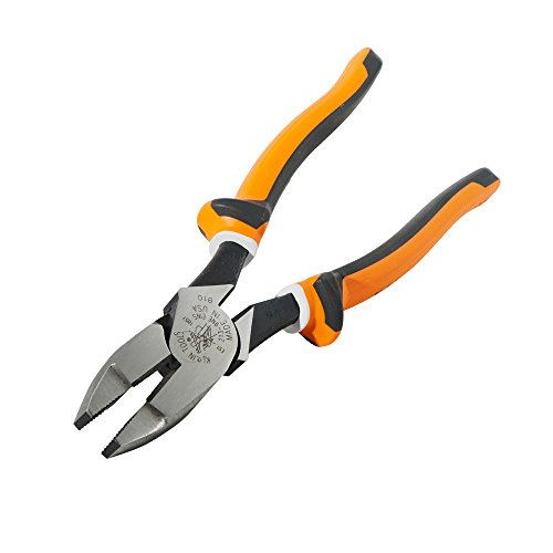 Klein Tools 2139NEEINS Slim Handle Insulated Side Cutter Pliers, Streamline New England Nose with Knurled Jaws, 9-Inch