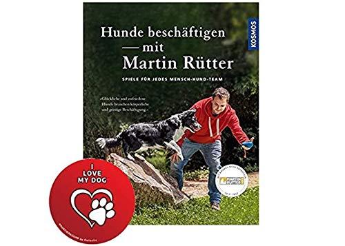 KOSMOS honden bezighouden met Martin Rütter: Spellen voor elk mens-hondteam gebonden uitgave + I Love My Dog Sticker by Collectix