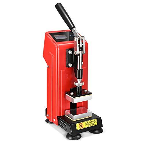 KKTECT 400W Prensa en caliente conveniente máquina de prensado manual pequeña Mini...