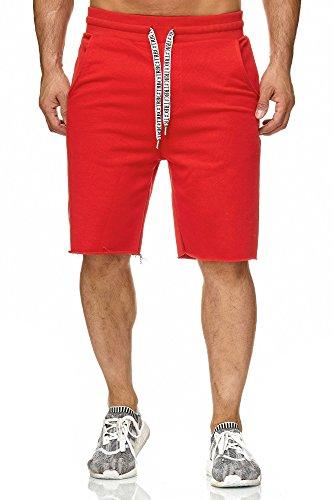 Red Bridge Herren Short Kurze Hose Sweatpant Jogginghose Basic Rot XL