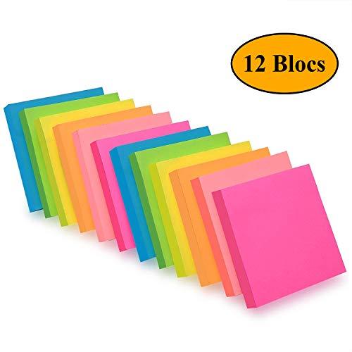 6 colori vivaci Foglietti autoadesivi 100 fogli//blocchetto Sticky Notes