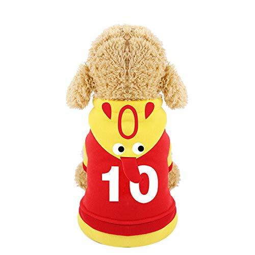 HJFDEW Personalidad Navidad Mascota Ropa para Perros Cosplay Disfraz de Perro de Pollo Gritando para Perros y Gatos Ropa Deportiva