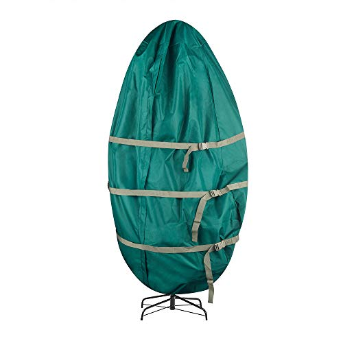 Tiny Tim Totes 83-DT5583 Premium Upright Christmas Tree Canvas Storage Cover Bag | 9 FT | Green, 9 Foot