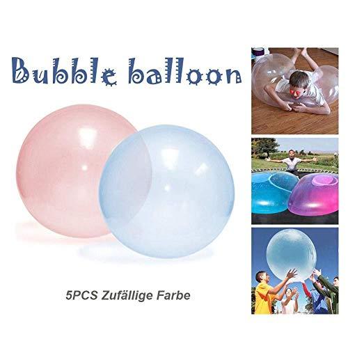 Wasserball Inflatable Beach Ball Strandball Bubble TPR Soft Rubber Reißfest Ball Für Strand Sport Unterhaltung Wasserball Kinder Outdoor-Spiel Spielzeug Kinder Aufblasbare Kugel Für Kinder(5 STÜCKE )