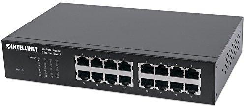 Intellinet Gigabit Ethernet Switch Metallo SC Nero Nero
