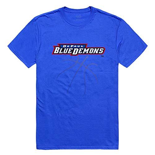 DePaul University Blue Demons NCAA Basketball Tee T-Shirt Large