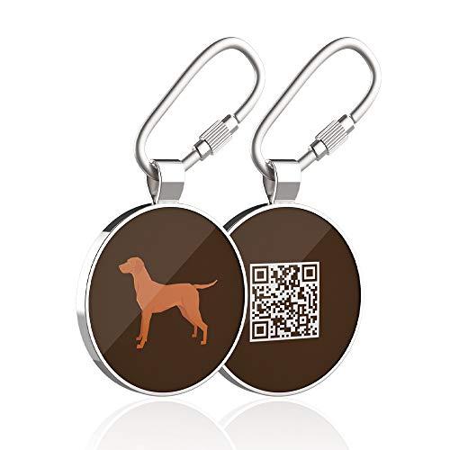 DISONTAG Placas Para Perros,Placa Para Perros Personalizadas,Placas Para Mascotas,Placa De Identificacion Perros,41 Patrones Realistas, Pantalla De Información única | Modificable