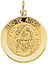 Jewels By Lux 14K Yellow Gold 18mm Nino de Atocha Medal