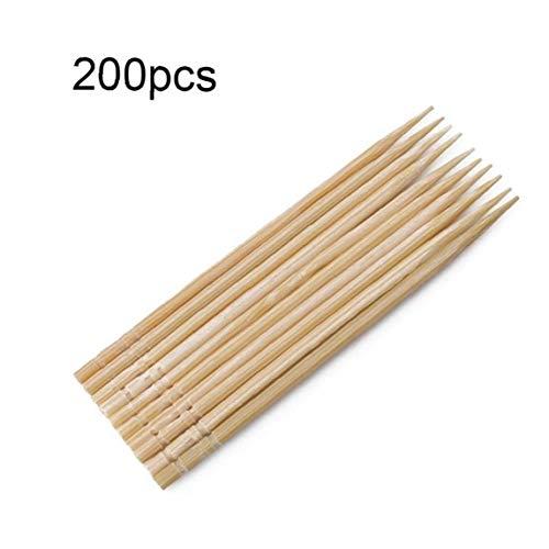 Asien Bambus-Holz-zahnstocher Holz Runde Zahnstocher Stabile Doppelseitig Für Party Olive Frucht Zähne Reinigung Zahnstocher 200pcs Zufällige Farbe