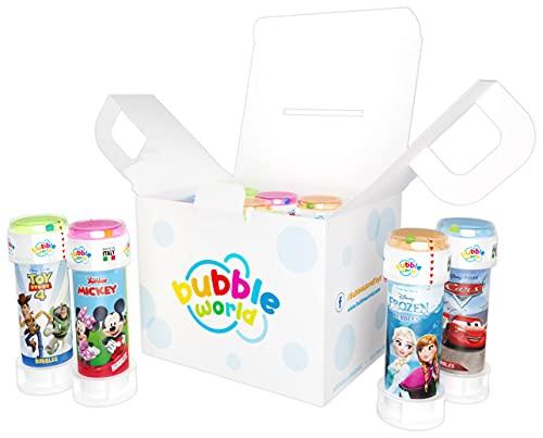 Dulcop 103.593000 - Disney Bubble Party Pack Confezione Contenente 12 Flaconi di Bolle di Sapone, Grafiche Assortite