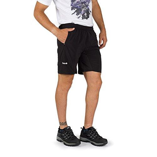 IZAS CINCA Shorts de Course Homme, Noir, FR (Taille Fabricant : XL)