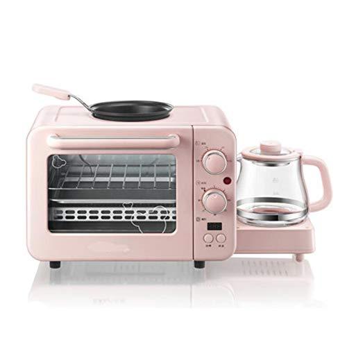 3-in-1-Brotbackautomat, multifunktionales, einstellbares Frühstücksartefakt mit Omelett-Toaster und Kaffeekanne, 0,8 Liter