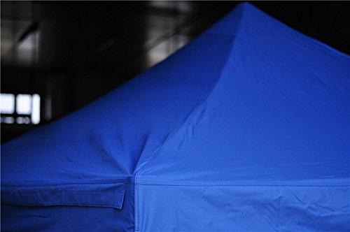 ACTIEXPRESS Bâche de Toit 3x6m pour Tonnelle Pliable, Tente Pliante, Barnum marché, en Polyester-PVC, 100% étanche (Polyester-PVC 300gr/m², Bleu)