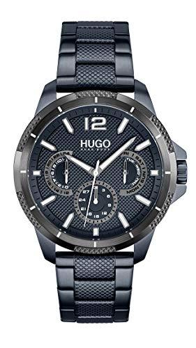 HUGO Herren Analog Quarz Uhr mit Edelstahl Armband 1530194