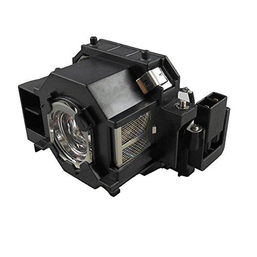Supermait EP41 A+ Calidad Lámpara Bulbo Bombilla de Repuesto para proyector con Carcasa, Compatible con Elplp41, Adecuada para PowerLite 77c / PowerLite 78 / PowerLite S5 / PowerLite S6 PowerLite W6