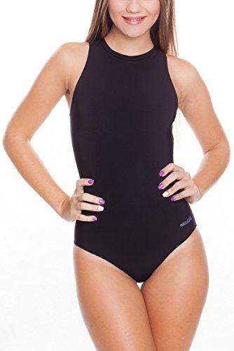 Aqua Speed Blanka Badeanzug Damen | Athleten-Sportanzug | Schwimmanzug | Wettkampf Schwimmen Farbe: Schwarz Größe: 36
