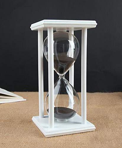 Sanduhr Timer für 60 Minuten Dekoration Festival Ornament für Küche Restaurant Wohnzimmer Zuhause Wandschrank Schreibtisch Schlafzimmer Party Weihnachten Neujahr Schwarz Sanduhr-Timer 60 Minuten