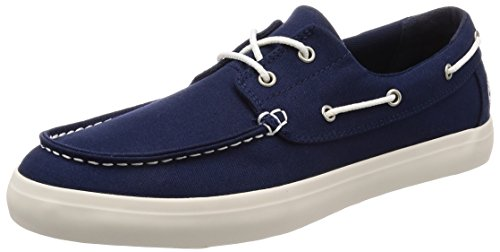 Timberland Union Wharf 2 Eye Oxford, Náuticos Hombre, Azul Navy Canvas, 43.5 EU