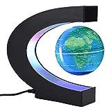 Globe Rotation bola flotante con tecnología de flotación magnética del mapa del mundo con luces LED, globo de tierra, para decoración de escritorio, regalo de negocios, regalo de cumpleaños