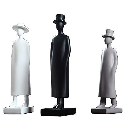 DAMAI STORE Licht Extravagant Ornament Kreativer Charakter/Model Raum Weiche Dekorationen/Crafts Wohnzimmer Möbel Designer (Farbe : Black)