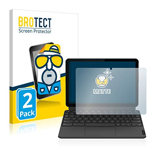 BROTECT 2X Entspiegelungs-Schutzfolie kompatibel mit Lenovo IdeaPad Duet Chromebook (im Querformat) Bildschirmschutz-Folie Matt, Anti-Fingerprint